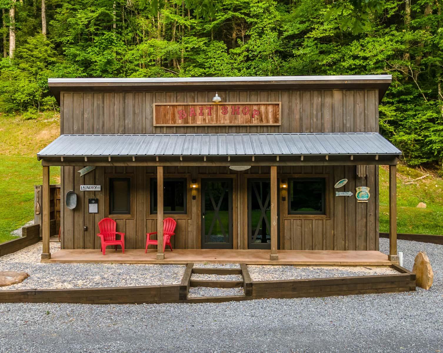 Baitshop Cabin exterior