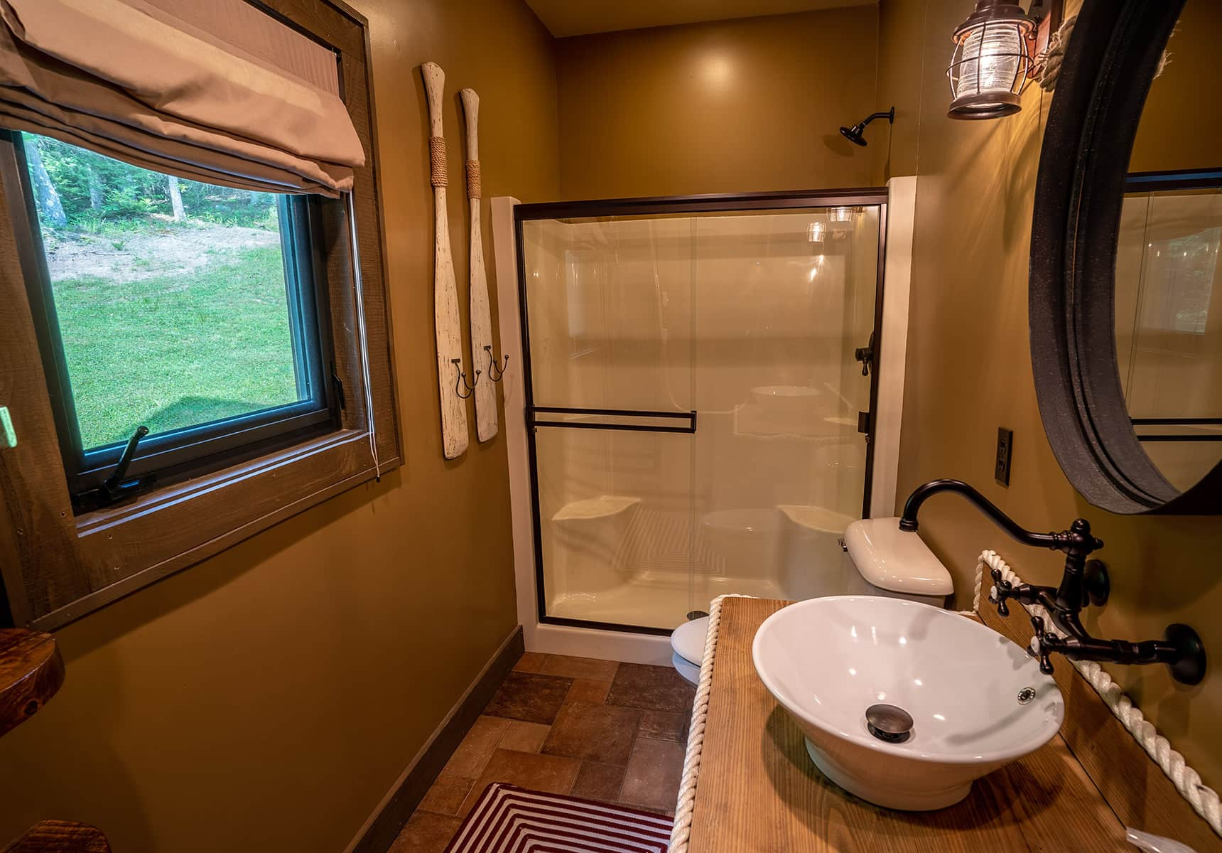 Boathouse bathroom with walk-in shower - Vacation Rental