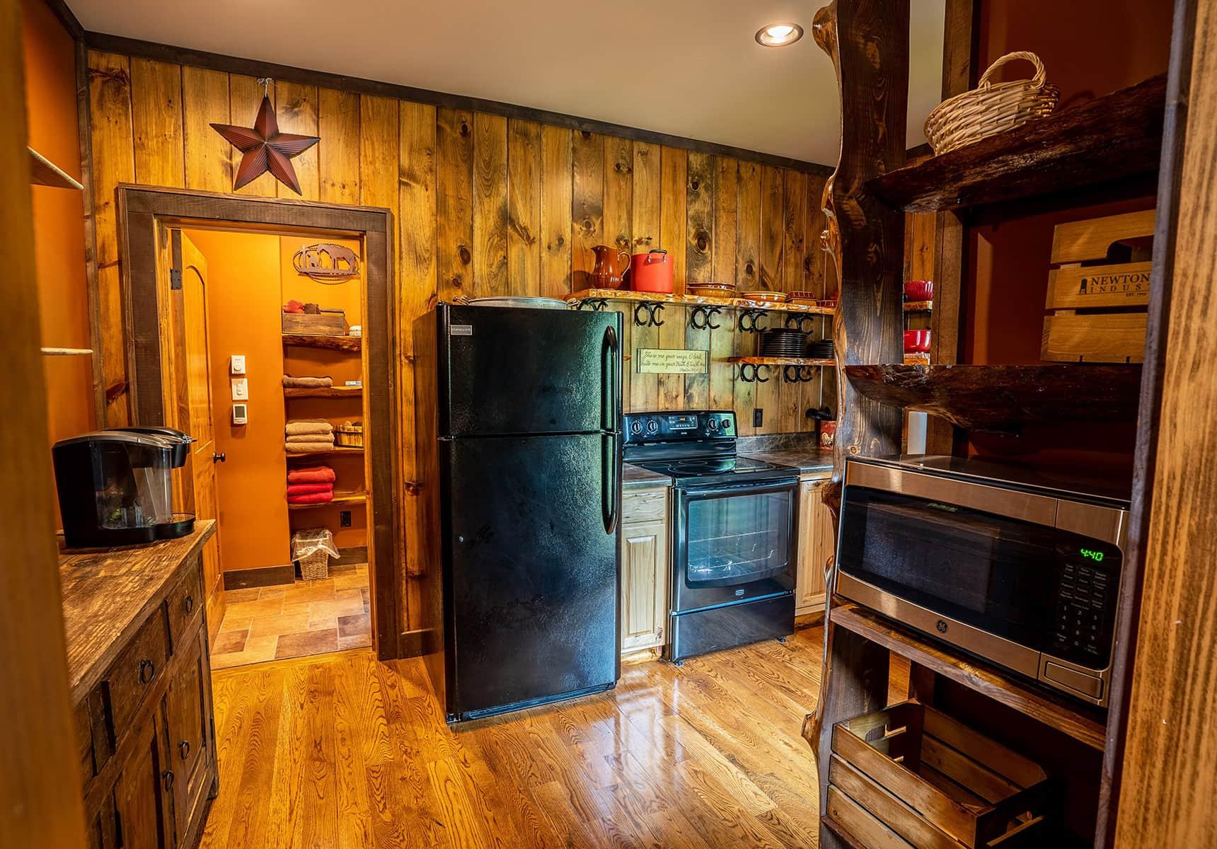 Kitchen of a Luxury Cabin Rental in WV