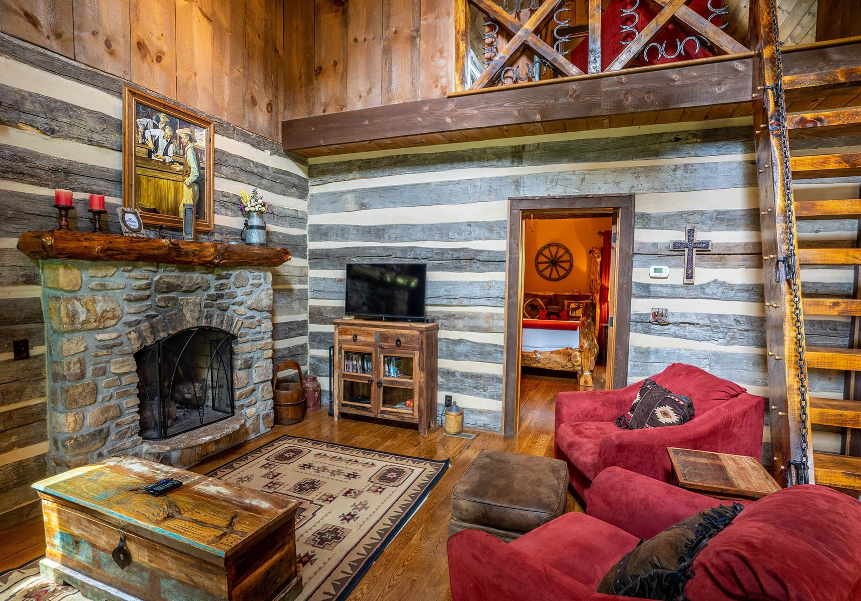 Living Room at a West Virginia Cabin Rental