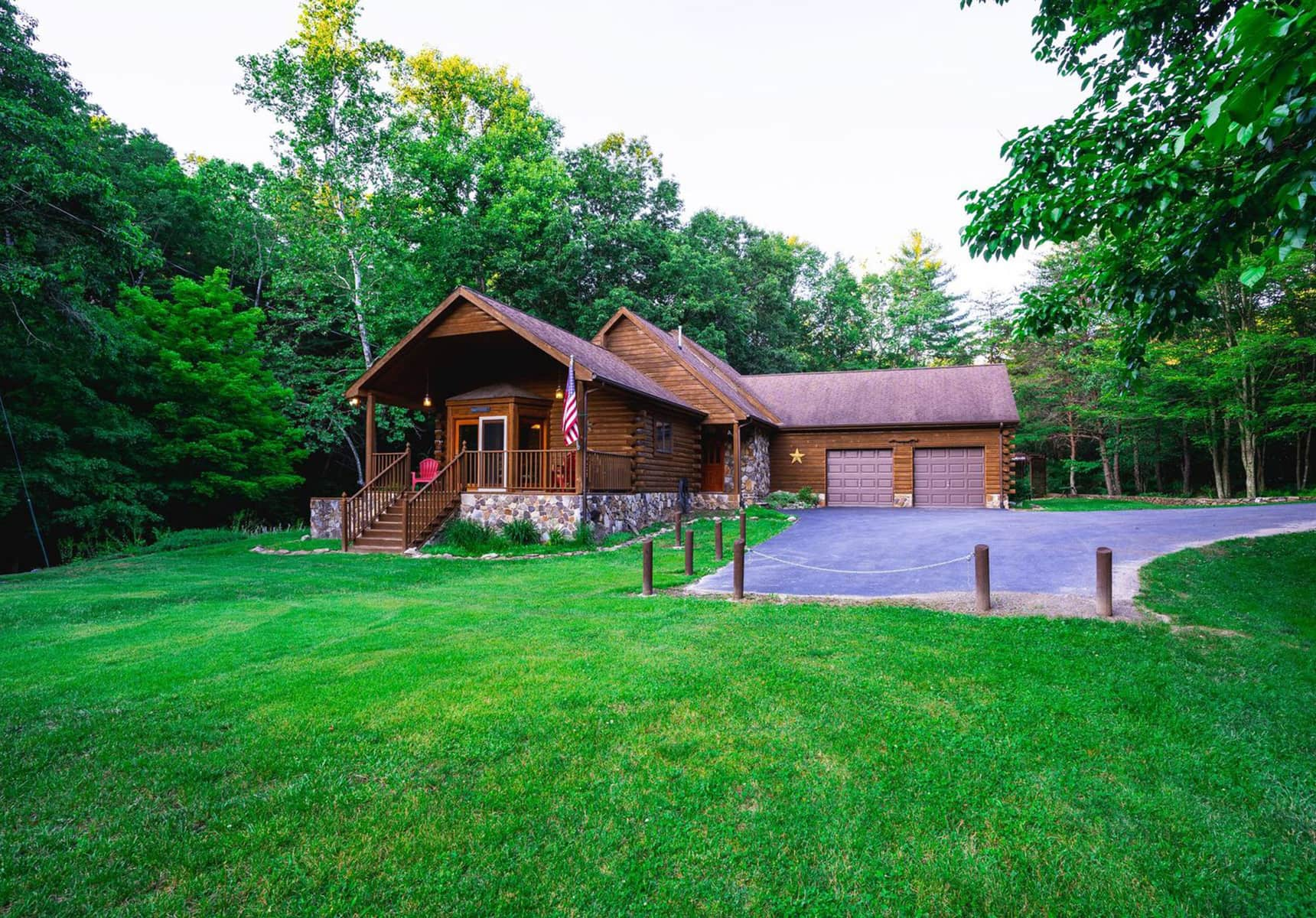 Creekside Home exterior - Family Cabin Rental in West Virginia