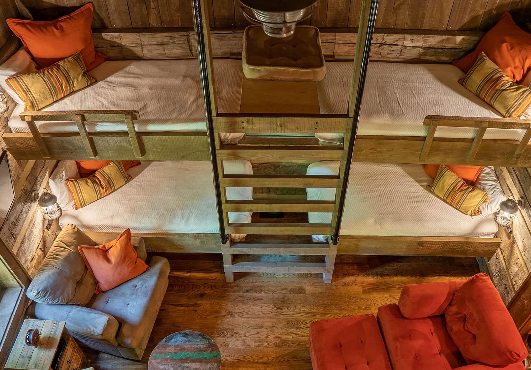 Fishing Creek Cabin bunk beds WV Cabin Rentals