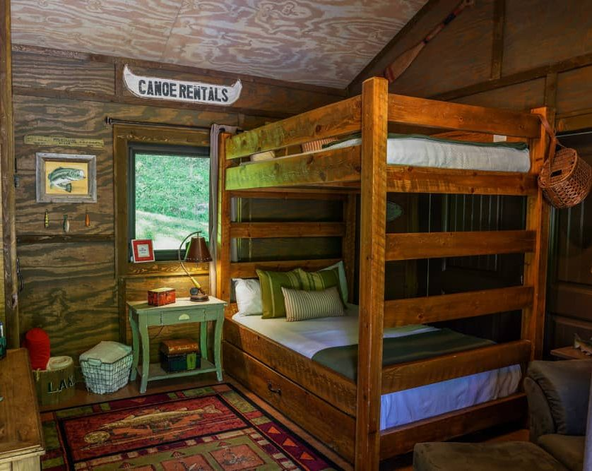 Baitshop Cabin bunk beds